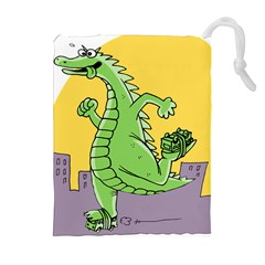 Godzilla Dragon Running Skating Drawstring Pouches (Extra Large)
