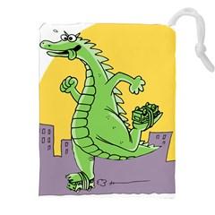 Godzilla Dragon Running Skating Drawstring Pouches (XXL)