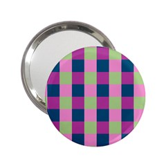 Pink Teal Lime Orchid Pattern 2.25  Handbag Mirrors