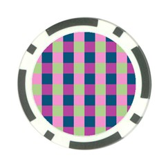 Pink Teal Lime Orchid Pattern Poker Chip Card Guards