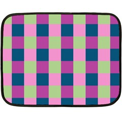 Pink Teal Lime Orchid Pattern Double Sided Fleece Blanket (Mini)