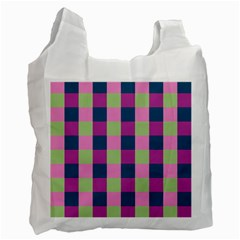 Pink Teal Lime Orchid Pattern Recycle Bag (Two Side)