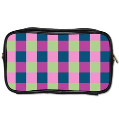 Pink Teal Lime Orchid Pattern Toiletries Bags