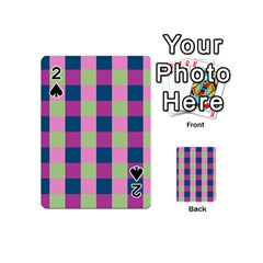 Pink Teal Lime Orchid Pattern Playing Cards 54 (Mini)