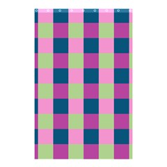 Pink Teal Lime Orchid Pattern Shower Curtain 48  x 72  (Small)