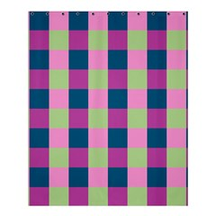 Pink Teal Lime Orchid Pattern Shower Curtain 60  x 72  (Medium)