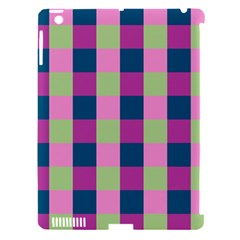 Pink Teal Lime Orchid Pattern Apple iPad 3/4 Hardshell Case (Compatible with Smart Cover)