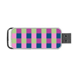 Pink Teal Lime Orchid Pattern Portable USB Flash (Two Sides)