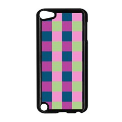 Pink Teal Lime Orchid Pattern Apple iPod Touch 5 Case (Black)