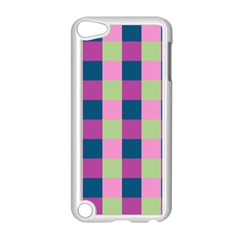 Pink Teal Lime Orchid Pattern Apple iPod Touch 5 Case (White)