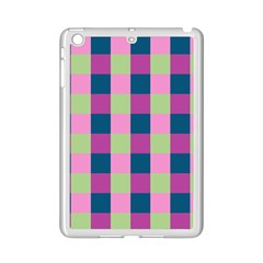 Pink Teal Lime Orchid Pattern iPad Mini 2 Enamel Coated Cases