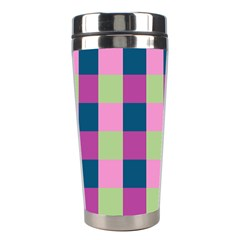 Pink Teal Lime Orchid Pattern Stainless Steel Travel Tumblers