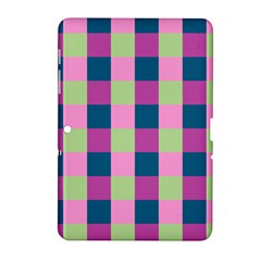 Pink Teal Lime Orchid Pattern Samsung Galaxy Tab 2 (10.1 ) P5100 Hardshell Case