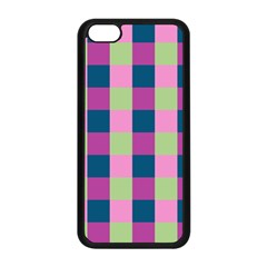 Pink Teal Lime Orchid Pattern Apple iPhone 5C Seamless Case (Black)