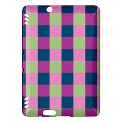 Pink Teal Lime Orchid Pattern Kindle Fire HDX Hardshell Case