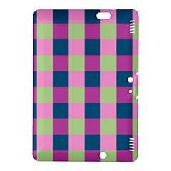 Pink Teal Lime Orchid Pattern Kindle Fire HDX 8.9  Hardshell Case