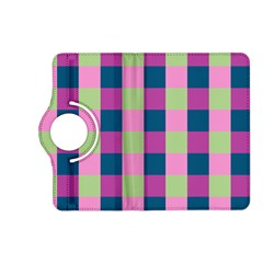 Pink Teal Lime Orchid Pattern Kindle Fire HD (2013) Flip 360 Case
