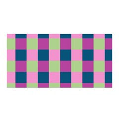 Pink Teal Lime Orchid Pattern Satin Wrap