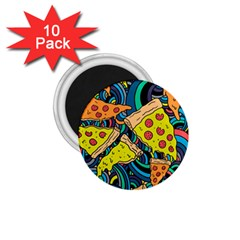Pizza Pattern 1.75  Magnets (10 pack)
