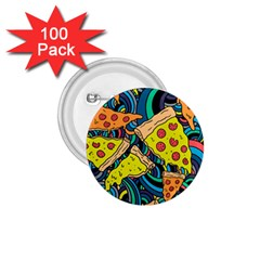 Pizza Pattern 1.75  Buttons (100 pack)