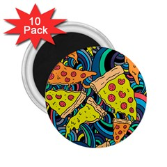 Pizza Pattern 2.25  Magnets (10 pack)