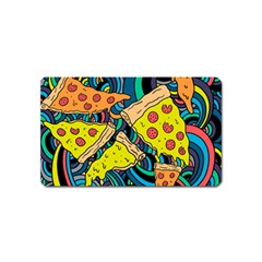 Pizza Pattern Magnet (Name Card)