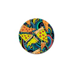 Pizza Pattern Golf Ball Marker (10 pack)