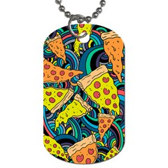 Pizza Pattern Dog Tag (Two Sides)