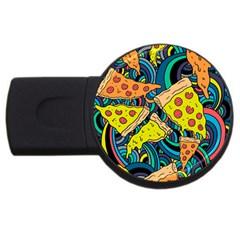 Pizza Pattern USB Flash Drive Round (2 GB)