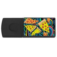 Pizza Pattern USB Flash Drive Rectangular (2 GB)