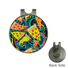 Pizza Pattern Hat Clips with Golf Markers