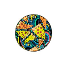 Pizza Pattern Hat Clip Ball Marker (10 pack)