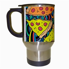 Pizza Pattern Travel Mugs (White)