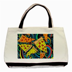 Pizza Pattern Basic Tote Bag (Two Sides)