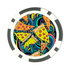 Pizza Pattern Poker Chip Card Guards