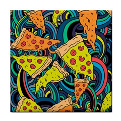 Pizza Pattern Face Towel
