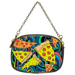 Pizza Pattern Chain Purses (Two Sides)