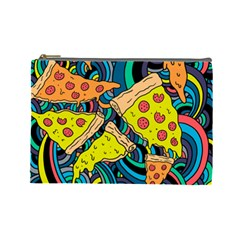 Pizza Pattern Cosmetic Bag (Large)