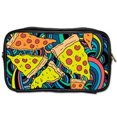 Pizza Pattern Toiletries Bags