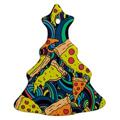 Pizza Pattern Christmas Tree Ornament (2 Sides)