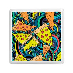 Pizza Pattern Memory Card Reader (Square)