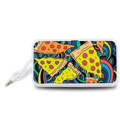 Pizza Pattern Portable Speaker (White)