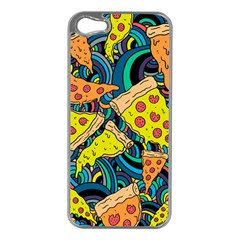 Pizza Pattern Apple iPhone 5 Case (Silver)