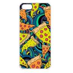 Pizza Pattern Apple iPhone 5 Seamless Case (White)