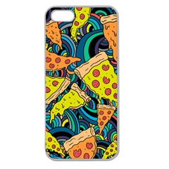 Pizza Pattern Apple Seamless iPhone 5 Case (Clear)