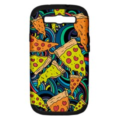 Pizza Pattern Samsung Galaxy S III Hardshell Case (PC+Silicone)