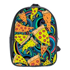 Pizza Pattern School Bags (XL)