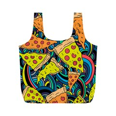 Pizza Pattern Full Print Recycle Bags (M)