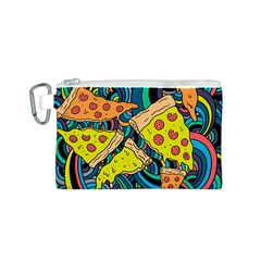 Pizza Pattern Canvas Cosmetic Bag (S)