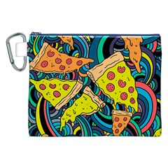 Pizza Pattern Canvas Cosmetic Bag (XXL)